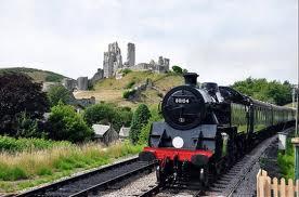 Steam Train & Corfe Castle